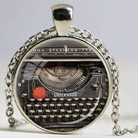 american keyboards - VINTAGE TYPEWRITER PENDANT Writer Gift for Writer Typewriter Jewelry Writer s Necklace Black Red Gray Vintage Keyboard Jewelry