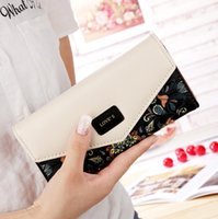 Wholesale Korean New Pastoral Small Lady Purse Hit Color Female Long Wallet Women Purse Wallet For Women Teenage Girl Cartera