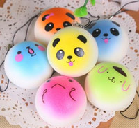 Wholesale Random Phone Straps Charm Gift Kawaii Squishy Foods Toys Charms Cell Gift Phone Chain Panda Breads Buns