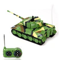 Wholesale New Promotion Classic R C Radio Remote Control Tiger RC Tank Model For Children Gifts