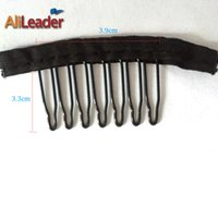 add lace wig - Accessory Tools Clips Hot Sale Wig Combs Black Color Lace Wrap Teeth Combs Wig Add to Wig Cap Clip Snap