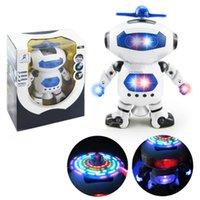 al por mayor astronautas de juguete-360 rotación inteligentes Robot Espacio Dance Robó Juguetes con música Luz Regalo para niños Astronauta Toy to Child