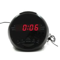 AM / FM abs alarm system - ABS LED Radio Clock Alarm Hours System Alarm Snooze Sleep Function Easy Operation x9cm