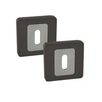 Wholesale EK07TBCP Square Door Lock Cylinder Hole Escutcheon Pair Due Black Nickel Chrome