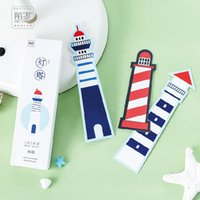 Wholesale pack Lighthouse Bookmark Paper Bookmarkers Promotional Gift Stationery Film Bookmarks For Books