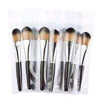 best cheap makeup brush sets - Professional black case wood handle cheap best makeup brush high quality kabuki powder makeup brush tool DHL free