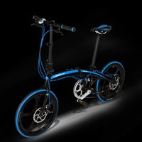 Wholesale 7 Speed inch Ultra light Folding Bike City Bicycle Aluminum Alloy Small Wheel Bike Double Disc Brake Free Installation Road Bike