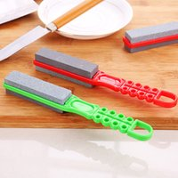 Wholesale Household multifunctional double thickness handheld sharpener grindstone grinding knives grinding scissors kitchen appliances department
