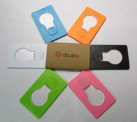 Wholesale 1pcs Portable Camping Pocket LED Night Card Light Wireless Magic Funny Gadget Flashlight