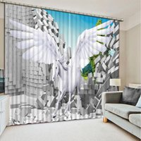 Wholesale Custom any size fashion decor home decoration for bedroom living room curtain curtain decoration brick horse window curtain living room