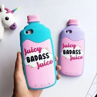 Silicone apple juice bottle - For iPhone s plus i7 Plus Phone Case Juicy Badass Juice Bottle Soft Silicone Protect Back Cover Shell Funda Capa