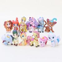 12шт / серия Princess Palace Домашние животные ПВХ фигурку игрушки Коллекционные модели игрушки хорошие дети подарка рождества 4-6cm