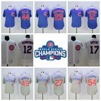 Wholesale Chicago Cubs Bryant Baseball Jerseys with world series champion patch Rizzo Baseball Shirts Arrieta Baseball Jerseys