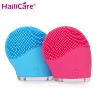 Wholesale Hailicare Electric Face Cleanser Vibrate Waterproof Silicone Cleansing Brush Massager Facial Vibration Skin Care Spa Massage