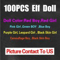 Wholesale Free DHL Shipping Style Christmas Elf Doll Plush toys Elves Xmas dolls on the shelf For Kids Holiday Christmas Gift