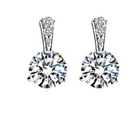 Wholesale 925 Sterling Silver Stud Earrings for Women Jewelry Fasihon Earrings CZ Diamond Earrings Neutral style N43