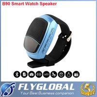 B90 Bluetooth Watch Haut-parleur Smart Wearable Handsfree Appel Portable Bluetooth Sport Musique Speacker TF Carte Jouer FM Radio boîte de détail
