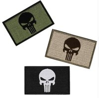 Wholesale Badge Embroidered D Punisher Patch Tactical Patches Skull Patches Military Armband Cloth Fashion Badges