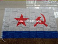 Wholesale USSR Soviet Navy Flag x Ft x cm Polyester Russia Russian Flags And Banners For Victory Day Home Decoration