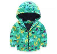 Jackets DZIECKO Unisex New baby boy coat cartoon pattern spring autumn kids jackets fashion coat for boys rainy outdoor wear toddler boys clothes 1-6T