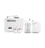 alarm panel wiring - 4 wire wireless zones SIM Card wireless GSM security home system Alarm panel with pir motion detector