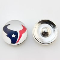 Charms american football houston - Popular Ginger Snap Jewelry Houston Texan Snap Button mm Glass American Football Team Snap Charms Fit For Women Bracelet Necklace