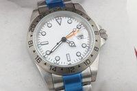 Precio de Esfera blanca para hombre de los relojes automáticos-Nueva marca de lujo limitada automática Movment acero inoxidable marca 2 blanco grande 40mm mens reloj deportivo reloj de pulsera floding cierre