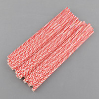 Wholesale Striped Paper Drinking Straws Birthday Party Prom Bar Pub Supply New Hot Sale