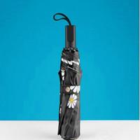 artistic coating - Creative Fully automatic Sunny and Rainy Rose Eiffel Tower Umbrella Artistic Painting Umbrellas Guarda Chuva Parasol Gift
