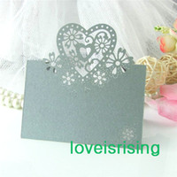 beautiful wedding places - 7 Colors U Pick cutout beautiful seats card Place Card Holder Name Number Table Place Wedding Party Favors Table Decoration