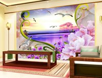 Wholesale Custom d wallpaper murals Seaview Sculpture wallpaper for walls mural d decor background kitchen wallpaper