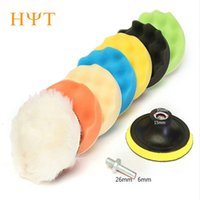 Wholesale set Buffing Pad Kit Compound Polishing Auto Car Detail Drill Adapter car styling cover new hot sale