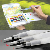 Wholesale Painting Tools Refillable Pc Water Brush Ink Pen for Water Color Calligraphy Drawing Painting Illustration Pen Office Stationery