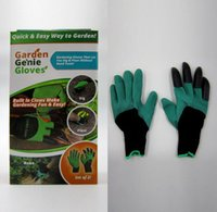 Wholesale Garden Genie Gloves With Fingertips Claws Green Dig and Plant Safe Pruning Gloves Garden Waterproof Digging Gloves pairs OOA1386