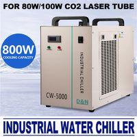 ac lasers - AC V Hz CW DG Industrial Water Chiller for W CO2 Laser Tube Cooler