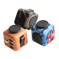 Wholesale Fidget Cube Anti anxiety and Depression Toys Release Stress for Children and Adults Wood Camouflage New Top Quality