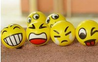 Wholesale 2016New Christmas party FUN Emoji Face Squeeze Balls Stress Relax Emotional Toy Balls Fun Office Holiday Gift Stocking Stuffer Gag Toy