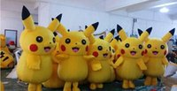 Wholesale Hot sale Pikachu Mascot Costume Fancy Dress Outfit cartoon Poke Costumes EMS halloween gift toycity mascot tm003