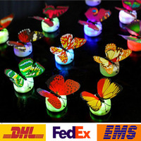 Indoor Christmas Decoration bar wall supply - Led Colorful Butterfly Night Light Indoor Flashing Wall Lights Wedding Bar Room Christmas Party Festive Decoration Supplies PX T09