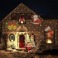 Wholesale Christmas Projector Laser Light Replaceable Lens Colorful Patterns Night Light Wedding Fairy Garden Lawn Lamp Landscape Laser Lighting