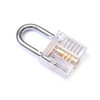 Wholesale Beautiful Modern Style Transparent Visible Pick Cutaway Mini Practice View Padlock Door Locks Kit Training Skill Tool For Locksmith