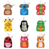 Wholesale ml Eco Friendly Foldable Cartoon Animal Bottle Travel Drink Bottle Safe for Kids Children Gift