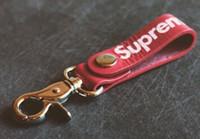 Wholesale 10 Colors supreme keychain key rings wholesales