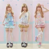 anime bunny girl - Adorable Summer Cute Soft Cotton Anime Pattern Shirt Women Girls Sweet Lolita Japan Kawaii Female Tops Bear Cat Bunny T shirts