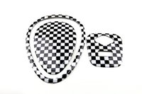 abs checker - Brand New ABS Material UV Protected Mini Checker Style Dashboard and USB Input Emblem For mini cooper F56 F55 Set