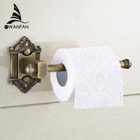 bathroom paper holder - New Antique Brass Wall Mount Bathroom Lavatory Rolling Toilet Paper Holder bathroom accessories Toilet Roll Holder WF