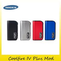 Precio de Mods fresco-Auténtico Innokin Coolfire IV Plus 70W Box Mod Construido en 3300mAh Batería Fuego Fresco 4 70 Plus ecig Mod original 2201060