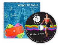 Wholesale Fit Board Balance Board Yoga Fitness Sports Trainer Workout Board Yoga Sit Up Benches colors with DVD guide