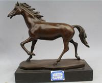 art coppers sculpture - Art Sculpture China Bronze Copper Marble Horse Craft Decoration Statue Figurine