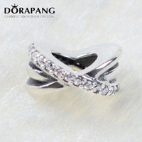 Spacers Valentine's Day  DORAPANG Valentines Day 925 Sterling Silver Beads Spacers Charm Fits European Style Jewelry Bracelets Bangles Necklace 4009